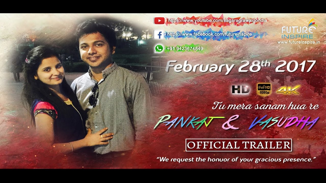 Pankaj weds Vasudha - {Royal} Wedding Invitation Video (Sanam Re ...