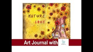 Mixed Media Art Journal with  nLoveArts   EASY