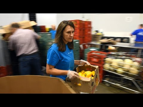 Volunteering at the Regina Food Bank