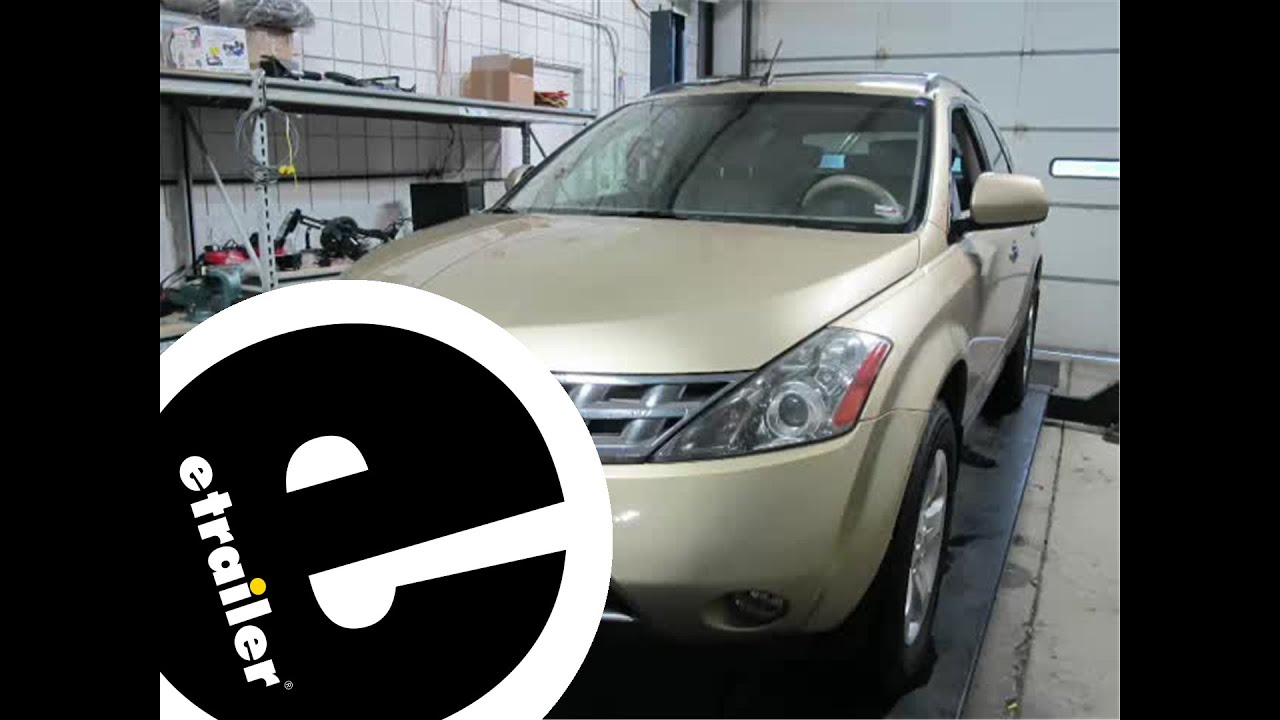 Nissan Murano Wiring Diagram Slr Camera Installation Of A Trailer Harness On 2004