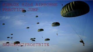 Roblox|82nd Airborne Division Paratrooper Jump| SergeantFrostBite #1