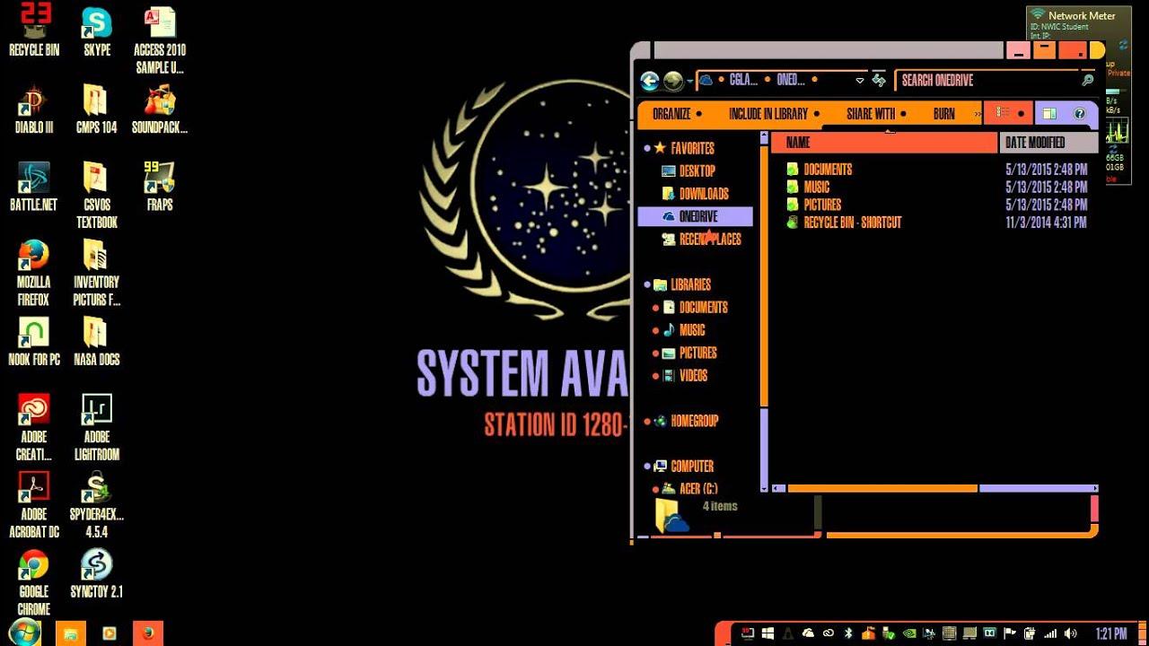 Star trek lacars theme for windows youtube for 5 star windows