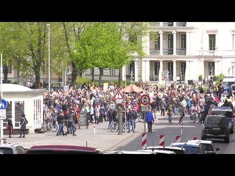 Demonstration in Schwerin gegen Corona-Maßnahmen