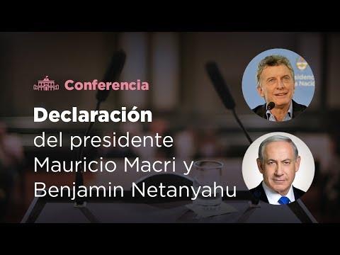 Macri recibió al primer ministro de Israel en Casa Rosada (VIDEO)