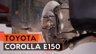 Como trocar discos de travão dianteiros e pastilhas de travão TOYOTA СOROLLA E150 [TUTORIAL AUTODOC]