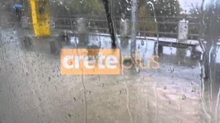 Πλατεία Ελευθερίας βροχή - CretePlus.gr (3-12-2013)