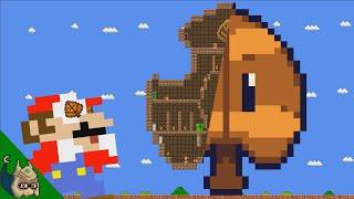 Mario vs the GIANT Super Leaf MAZE (Mario Cartoon Animation)