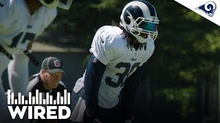 WIRED: Todd Gurley Mic'd Up at Rams v Raiders Practice | Training Camp 2019