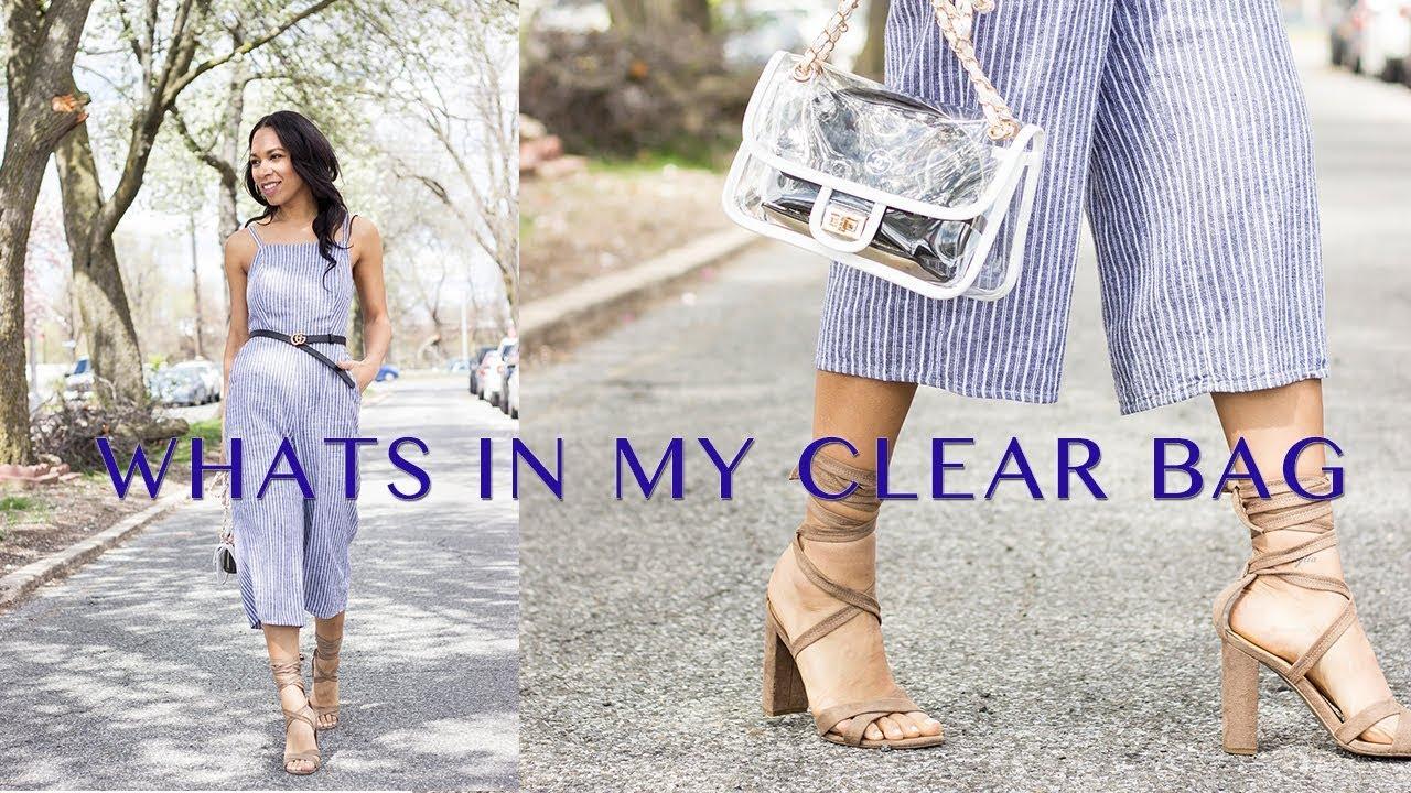 2810bbc9b09e WHAT'S IN MY BAG? | CLEAR PVC CHANEL INSPIRED HANDBAG | THEWAYTOMYHART