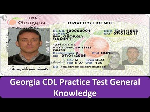 Georgia CDL Practice Test General Knowledge