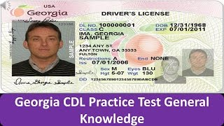 Georgia CDL Practice Test General Knowledge