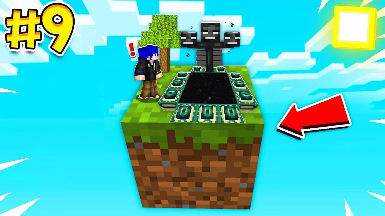 ไปโลก The end พร้อมสร้าง บีค่อน จุดจบของโลก 1 block - Minecraft one block #9