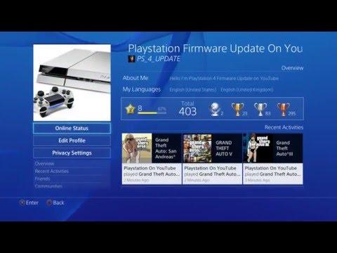 PS4 Update 3.50 Change Online Status