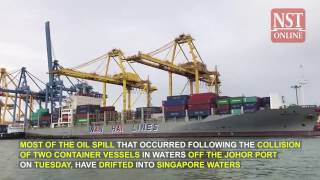 Johor oil spill: Most of oil drifted into Singapore waters