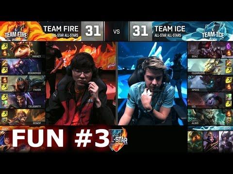 Ice vs Fire fun (troll) Show Match 3 - Faker Zhonya Zed vs xPeke Maokai | LoL All-Star 2016 Day 4