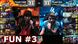 Ice vs Fire fun (troll) Show Match 3 - Faker Zhonya Zed vs xPeke Maokai | LoL All-Star 2016 Day 4