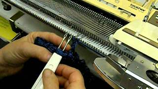 Bulky Rick Rack Edge On Standard Knitting Machine By Carole Wurst