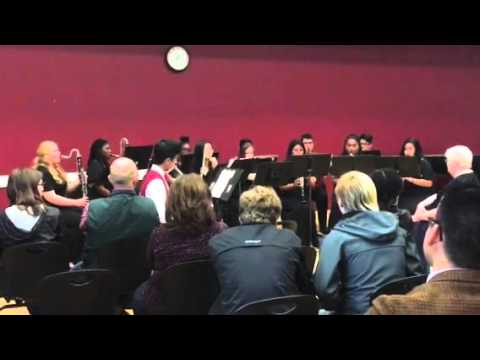 Global Connections High School Woodwind Choir playing Gavotte by William S Hirsch