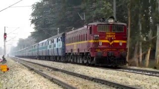 15027 Maurya Express with Offlink TATA WAG5A proceeds towards GKP Cantt.