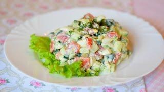 Легкий салат с семгой и перепелиными яйцами / Salad with salmon