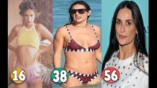 Demi Moore ♕ Transformation From 08 To 56 Years OLD