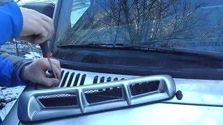видео Воздухозаборник через фару своими руками