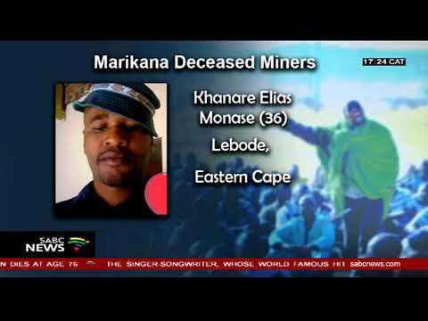 Marikana Massacre victims