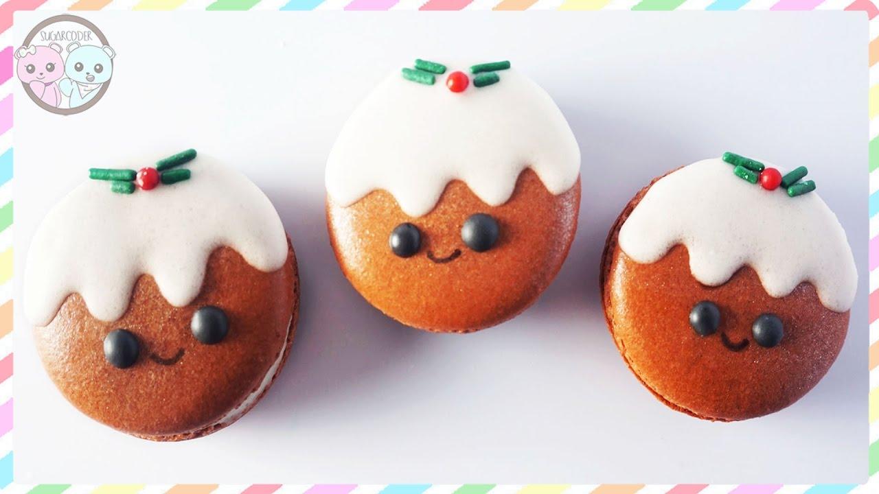 Christmas Pudding Cookies Macarons Sugarcoder