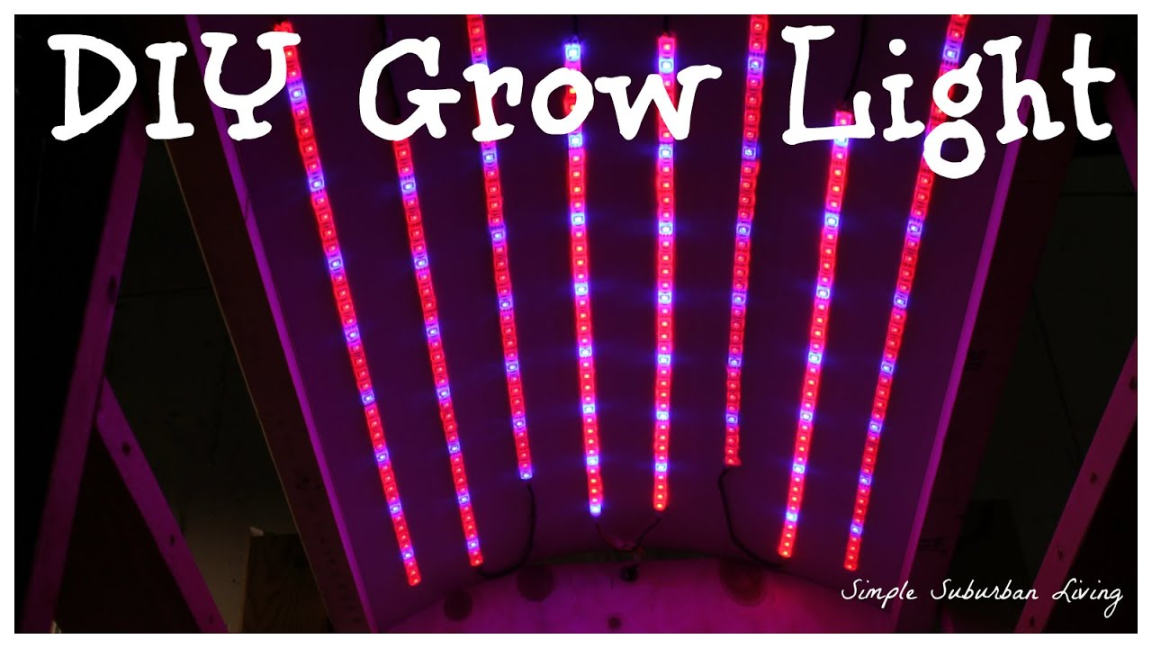 Diy 35 Led Grow Light Youtube