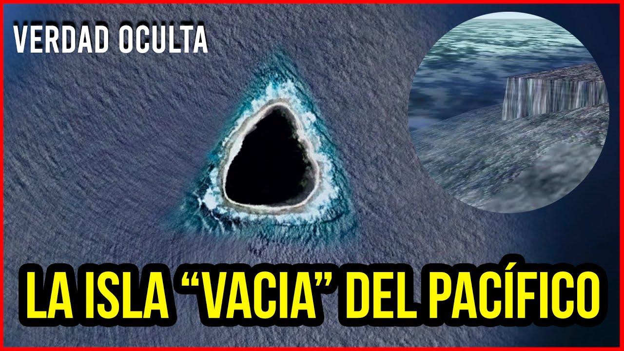 """HALLAN """"ISLA VACIA"""" EN EL PACÍFICO CON UN MURO DE 2 KM DE LONGITUD"""