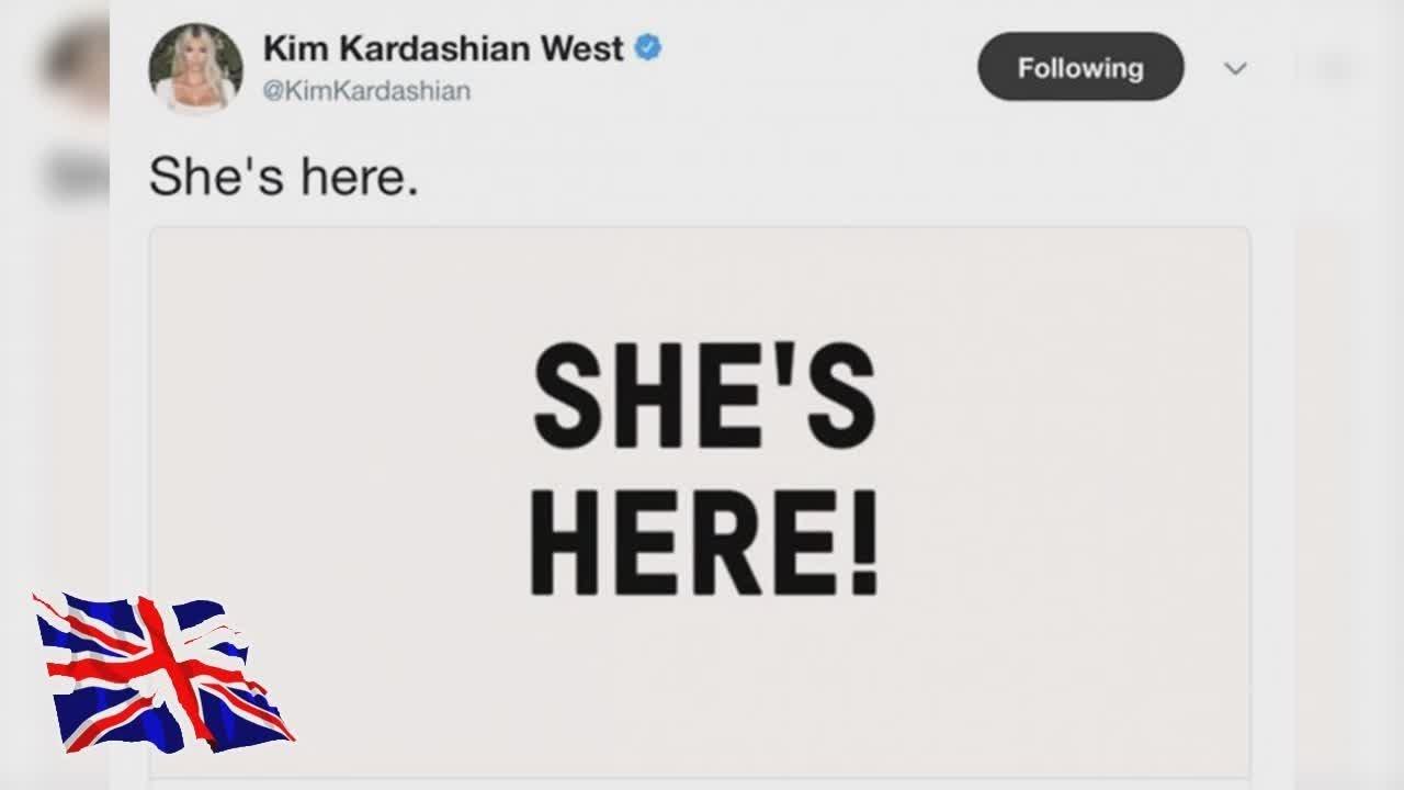 Kim Kardashian West W Kim Kardashians Daughter Chicago Wests Birth