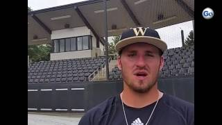 Wofford pitcher Adam Scott on starting 9 a.m. game at SoCon tournament.