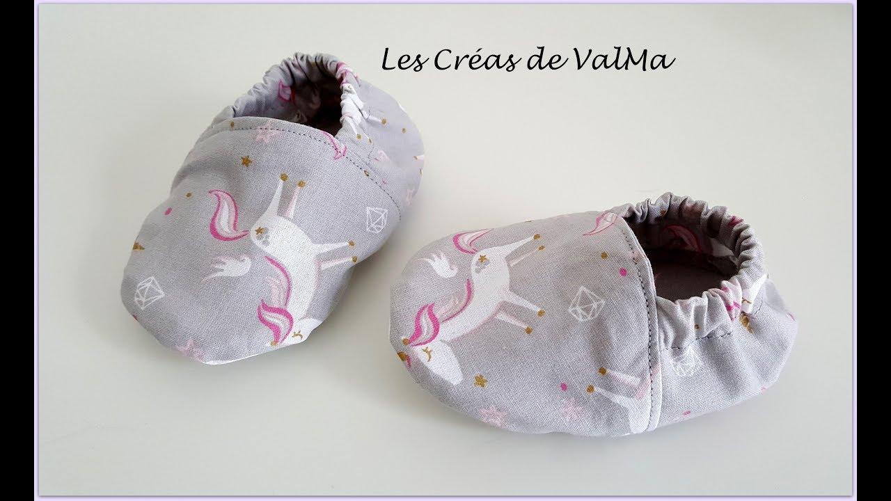 plus récent 521e3 9942b Chaussons pour bébé - facile débutant - Tuto couture ValMa