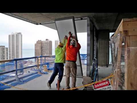 4 E. Elm - Exterior Glass Window Wall System