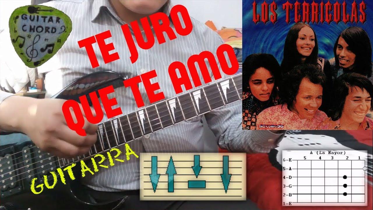 Como tocar te juro que te amo en guitarra