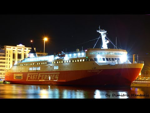FAST FERRIES ANDROS ARRIVAL AT PIRAEUS PORT