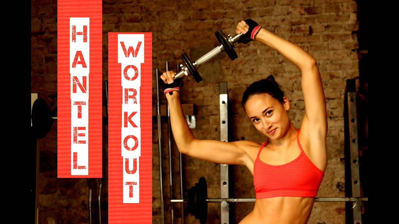 Kurzhanteltraining Zuhause für Frauen - Muskeln aufbauen