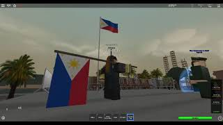 Armed forces of the philippine roblox respecting the flag for their country