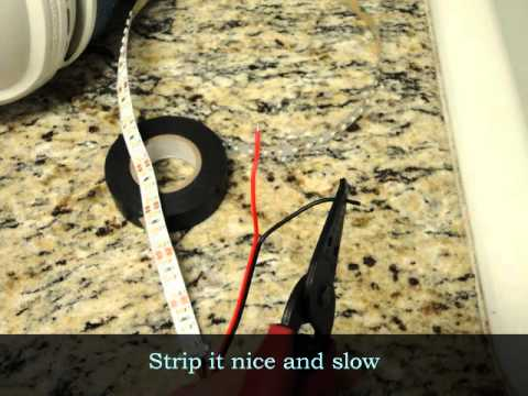 How to install LED Strip light Under Cabinet Lighting - YouTube