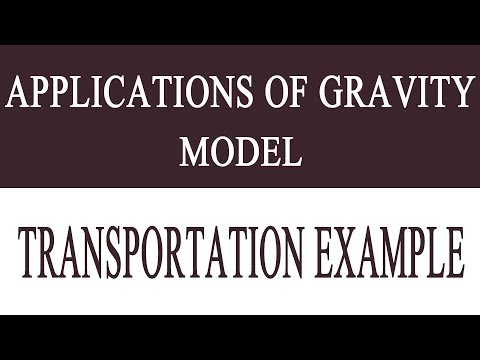 """Application of gravity model of transportation, Solution of Eample problem""""Easy Learning"""""""