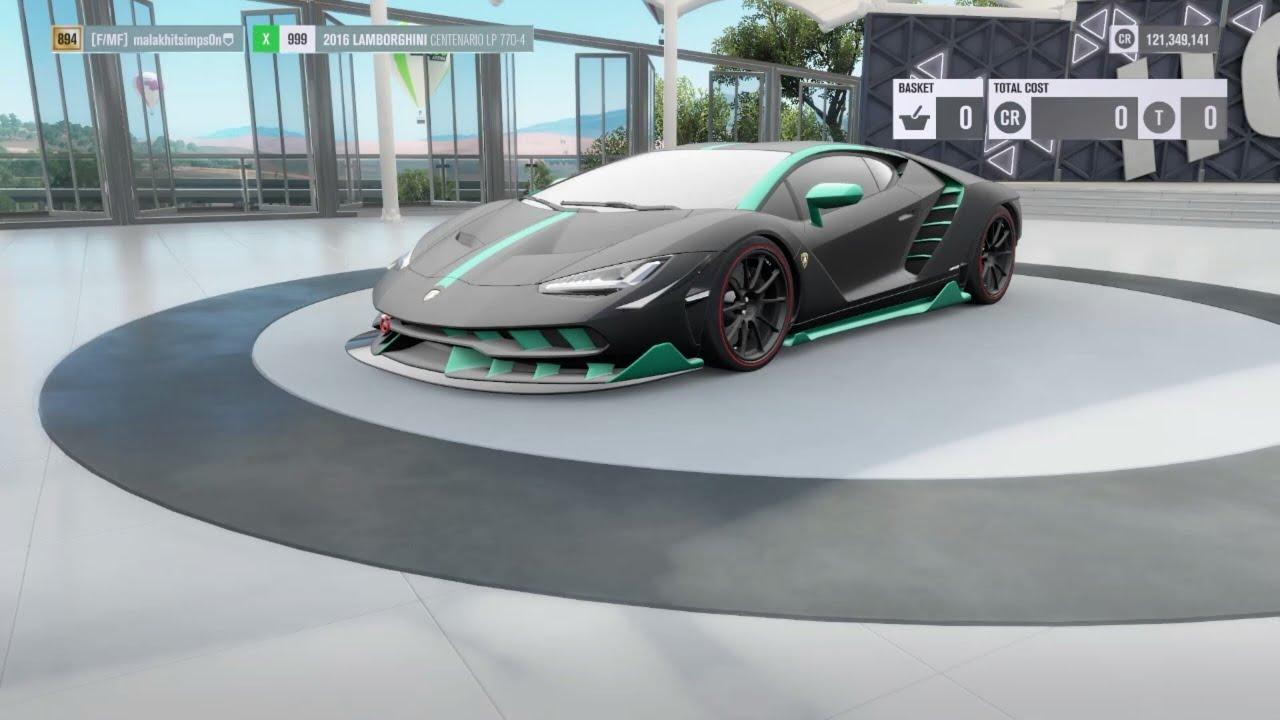 Forza Horizon 3 Lamborghini Centenario 8 06 191 Goliath Tune Youtube