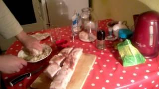 Как посолить сало, очень вкусный рецепт!(Теперь я в Инстаграм - https://instagram.com/sergei_sergeich163/, 2013-12-29T12:47:28.000Z)