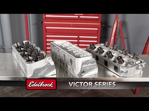 Edelbrock Victor, Victor Jr & Pro-Port Cylinder heads - YouTube