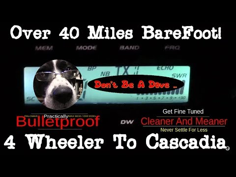 """Almost 40 Miles BareFoot .. """"Fine Tuned""""  Stryker SR955HPC And AnyTone AT6666  Mobile To Mobile"""