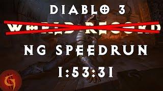 �������� ���� Diablo 3 Former World Record Speed Run! Demon Hunter Any% NG 1:53:31 ������