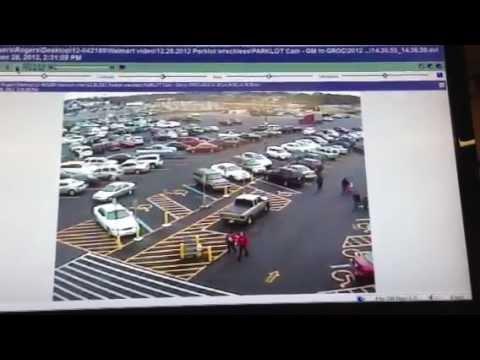 Walmart Security Footage - Parking Lot (Angie Cornett) - YouTube