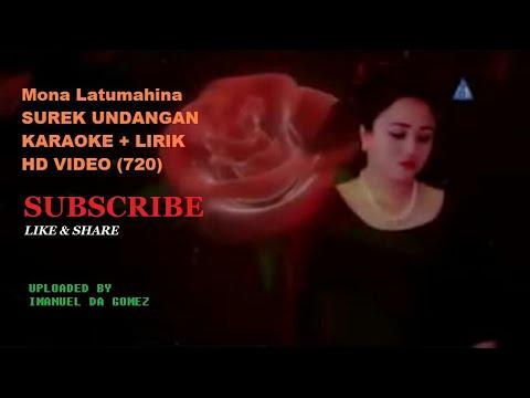 Mona Latumahina SUREK UNDANGAN KARAOKE + LIRIK