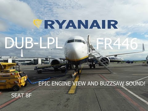 Ryanair Boeing 737-8AS Dublin to Liverpool   Full Flight