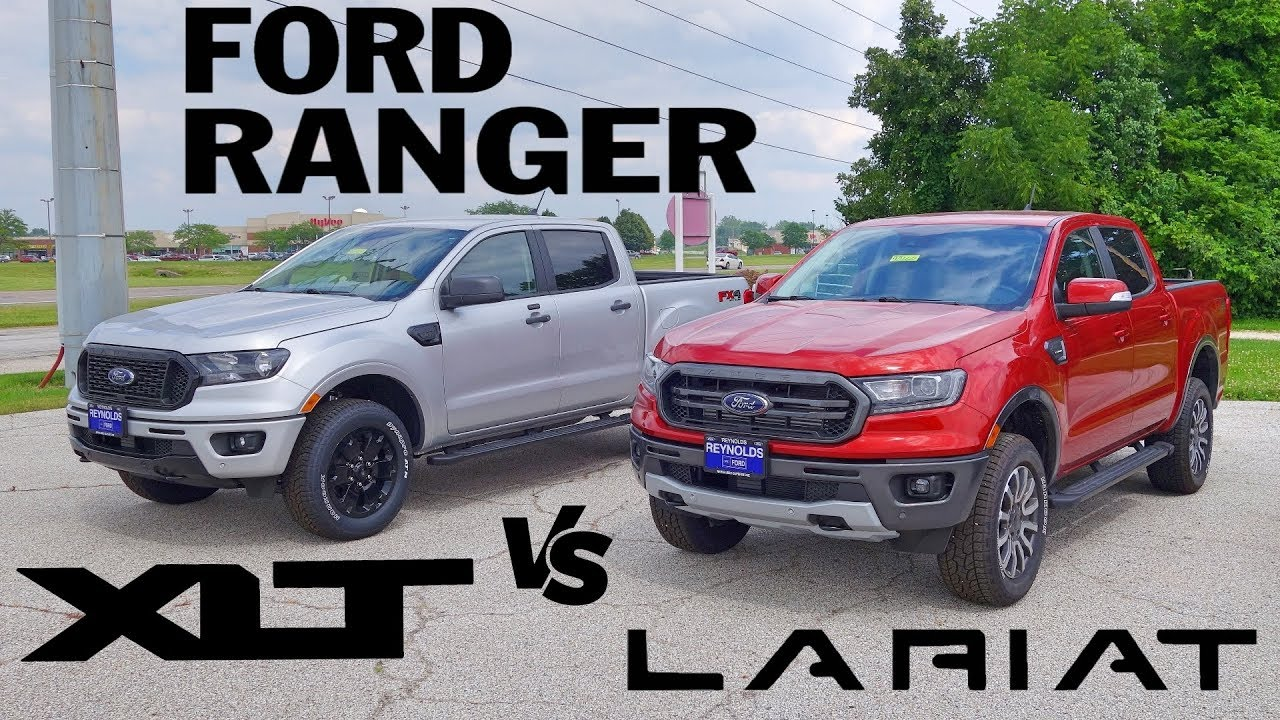 2019 Ford Ranger Lariat Xlt Fx4 Side By Side Comparison Youtube