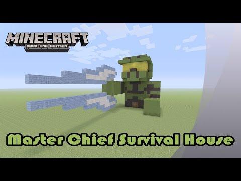 Minecraft: Master Chief Survival House Tutorial (Halo)
